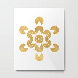 STAR TETRAHEDRON MERKABA sacred geometry Metal Print