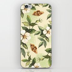 Delicate pattern with flowers and butterflies hips iPhone & iPod Skin