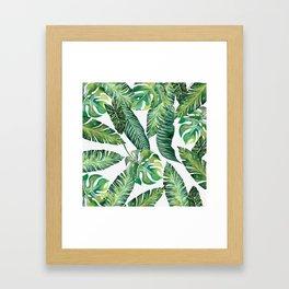 Jungle Leaves, Banana, Monstera #society6 Framed Art Print