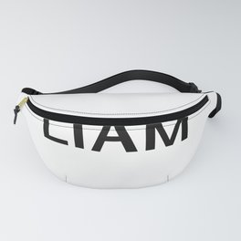 Liam Name Text Tag Word Choose a Background Color Fanny Pack