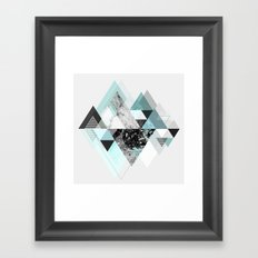 Graphic 110 (Turquoise Version) Framed Art Print