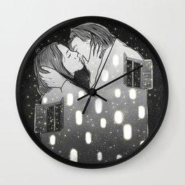 Spirits through windows. Wall Clock