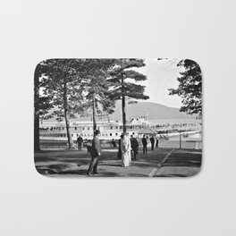 Vintage Lake George: The Sagamore Docks at Green Island Bath Mat