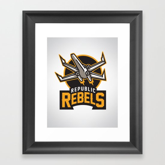 Republic Rebels Framed Art Print