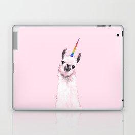 Unicorn Llama in Pink Laptop & iPad Skin