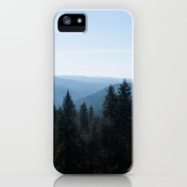 Scenic Tree Lined Valley Photography Print iPhone Case