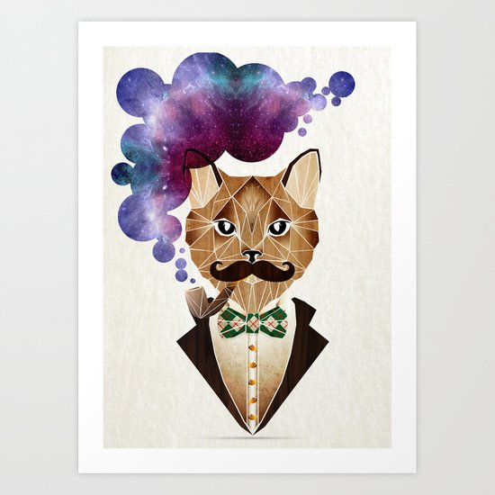 monsieur chat Art Print