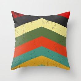 Grunge chevron Throw Pillow