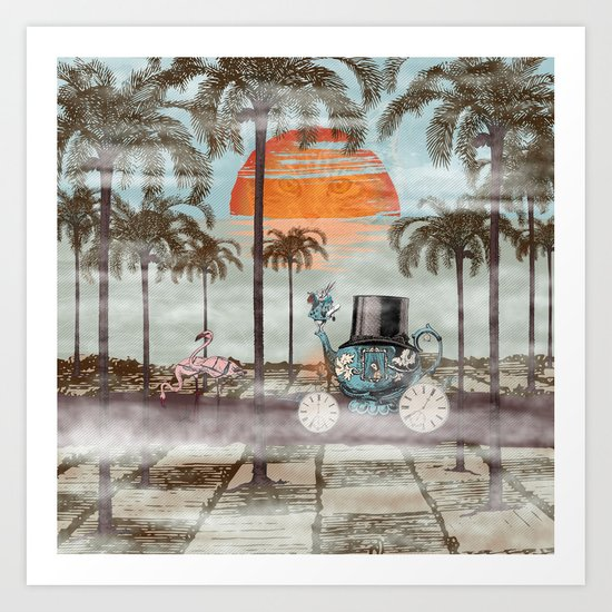 Alice Goes to California Art Print