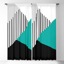 Geometric fantasy - turquoise  Blackout Curtain