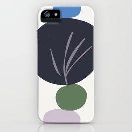 zen garden stones with leaf imprint iPhone Case