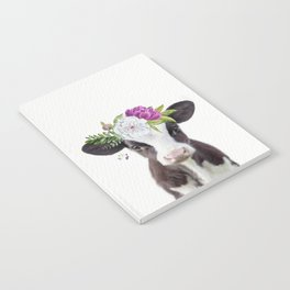 Baby Cow with Flower Crown Notebook