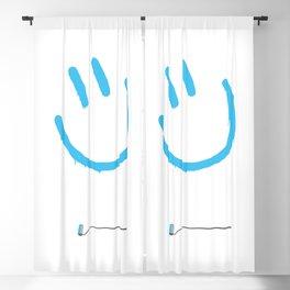 Street Art Happy Face Blackout Curtain