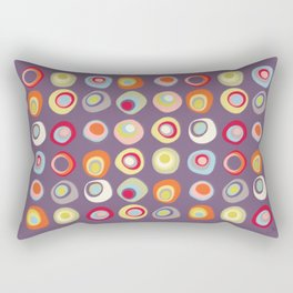 Atomic Circles | Mid Century Modern Style Rectangular Pillow