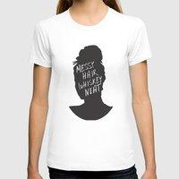 whisky T-shirts featuring Messy Hair, Whisky Neat by Sarah Marie Design Studio