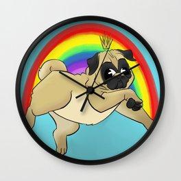 King Pug Wall Clock