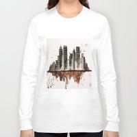 nyc Long Sleeve T-shirts featuring NYC by Rosalia Mendoza