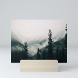 Over the Mountains and trough the Woods -  Forest Nature Photography Mini Art Print
