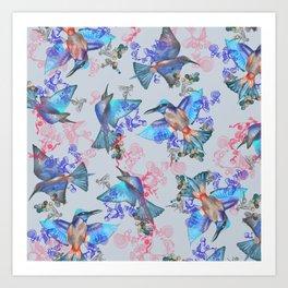 bee eaters pattern Art Print
