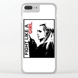 Fight Like A Girl (Clarke) Clear iPhone Case