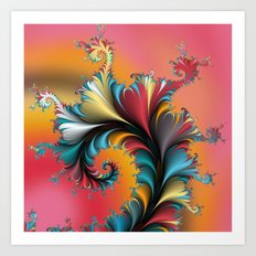 Fractal Reflections Art Print