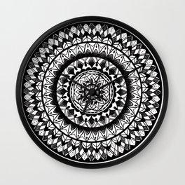 Ink Mandala Wall Clock