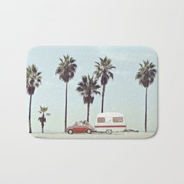 NEVER STOP EXPLORING - CAMPING PALM BEACH Bath Mat