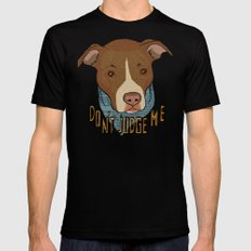 Pit bull Pride Black Mens Fitted Tee SMALL