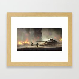Preparing for battle Framed Art Print