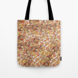 Modern orange faux gold glitter abstract pattern Tote Bag