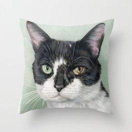 Tuxedo Cat Throw Pillow