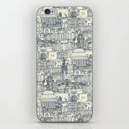 Edinburgh toile indigo pearl iPhone Skin