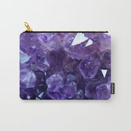 Raw Amethyst - Crystal Cluster Carry-All Pouch