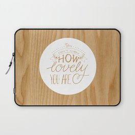 Lovely Lyric Laptop Sleeve