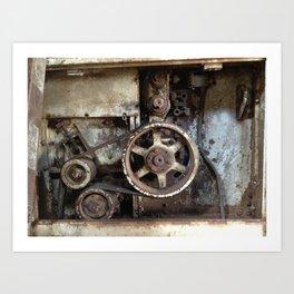 Cotton Gin Motor Belt and Wheels Art Print