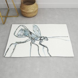 Mosquito, Watercolor Rug