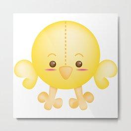 Cotton Head Chicken Metal Print
