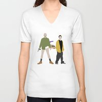 breaking bad V-neck T-shirts featuring Breaking Bad by Bill Pyle