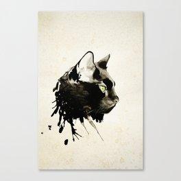 Boxcar, the Black Cat. Canvas Print
