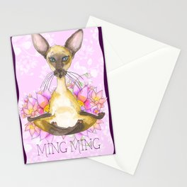 Ming Ming the Yoga Cat  Stationery Cards