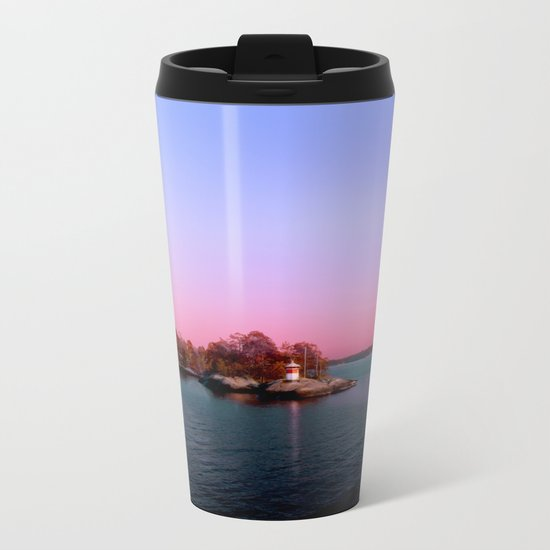 Sunset over the Island Metal Travel Mug