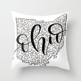 Ohio Love Throw Pillow