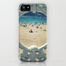 La Concha . Donosti beach iPhone Case