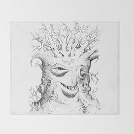 Tree Oddity Throw Blanket