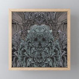 Skull Peaces Framed Mini Art Print