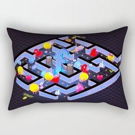 Hyper Pac Man : The social media maze Rectangular Pillow