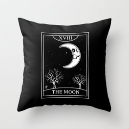 The Moon Tarot Card Throw Pillow