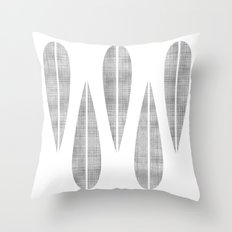 Make Mine MCM Grey Feather Throw Pillow