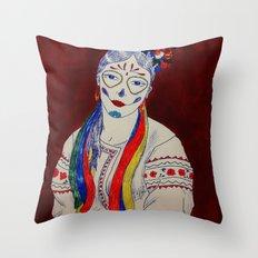 Skullcandy Ethnic Lady Throw Pillow