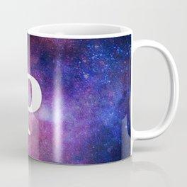 Monogrammed Logo Letter P Initial Space Blue Violet Nebulaes Coffee Mug
